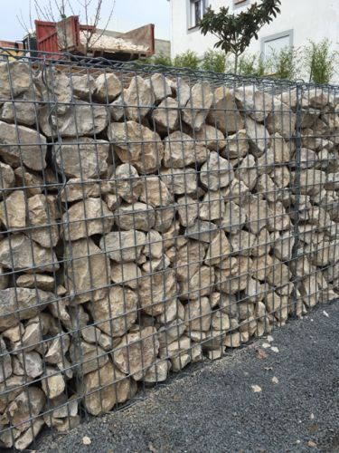 Mur de sout nement en gabion perpignan b timent for Mur decoratif jardin