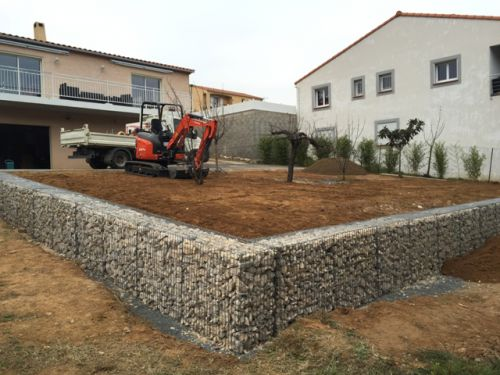 mur de sout nement en gabion perpignan b timent travaux publics. Black Bedroom Furniture Sets. Home Design Ideas